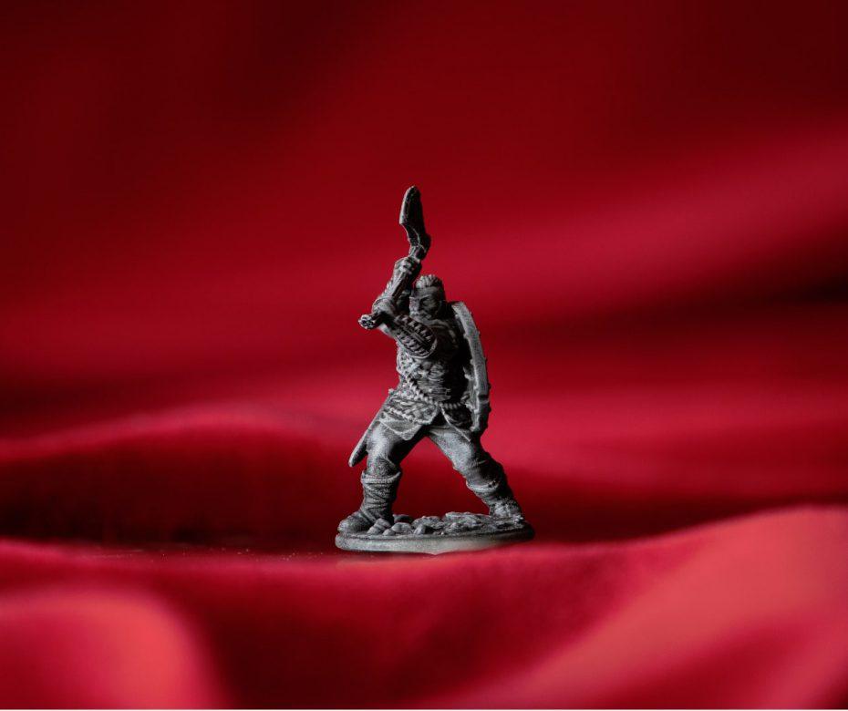Viking miniatuur: drybrush