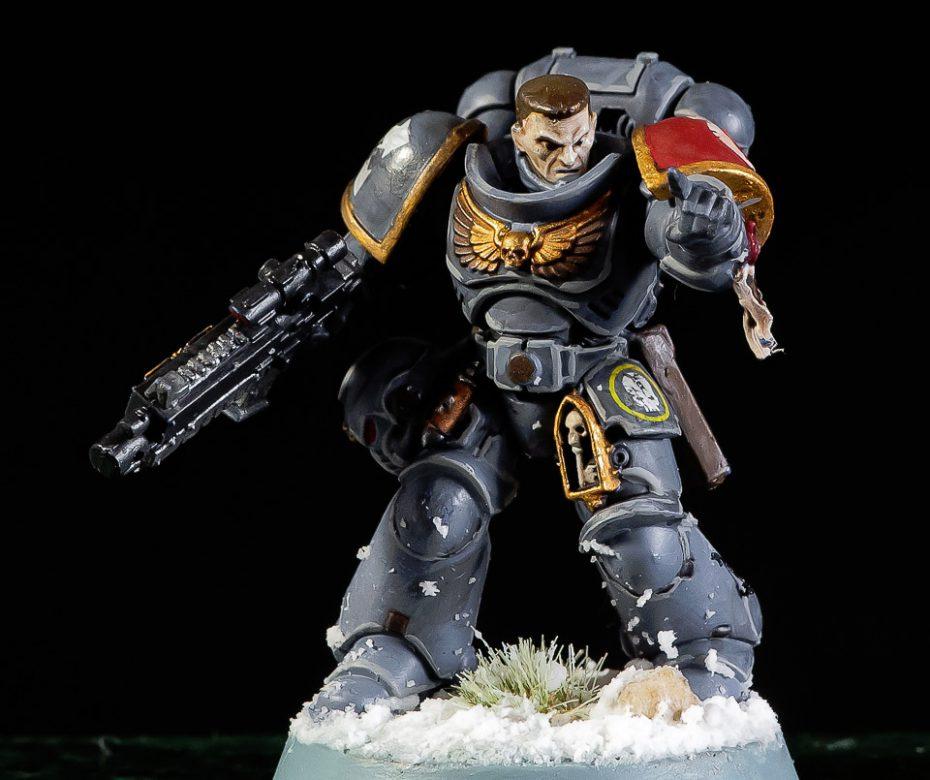 Warhammer Space Wolf sergeant: uitgebreid